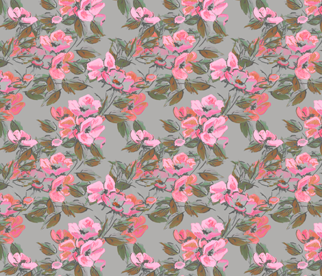 Rockabilly Rose pink  fabric by joanmclemore on Spoonflower - custom fabric