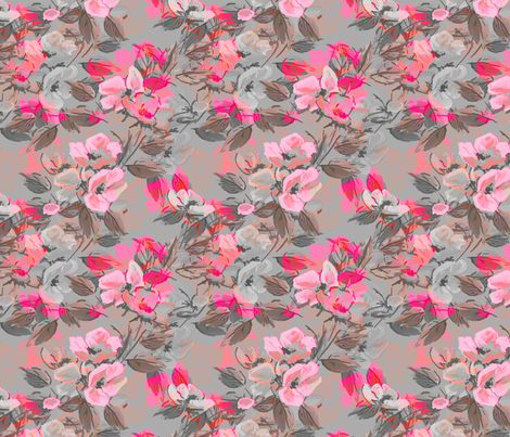 Rockabilly Rose Pink 2 tone fabric by joanmclemore on Spoonflower - custom fabric