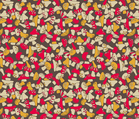 toadstools fabric by cheyanne_sammons on Spoonflower - custom fabric