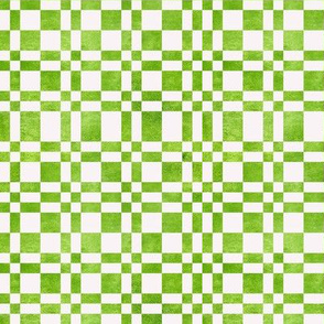 Avocado White Plaid