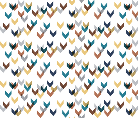 Chevrons Falling Apart: Small fabric by stephanie on Spoonflower - custom fabric