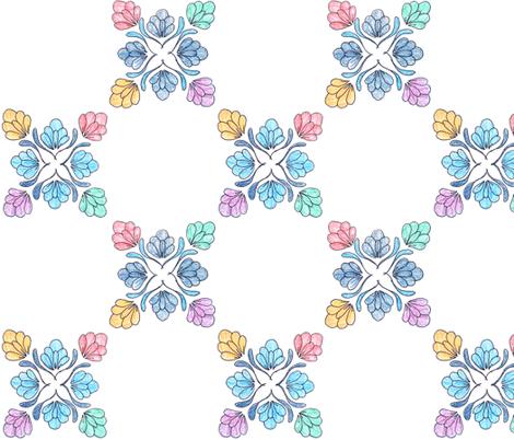 flower repeat fabric by hollyakkerman on Spoonflower - custom fabric