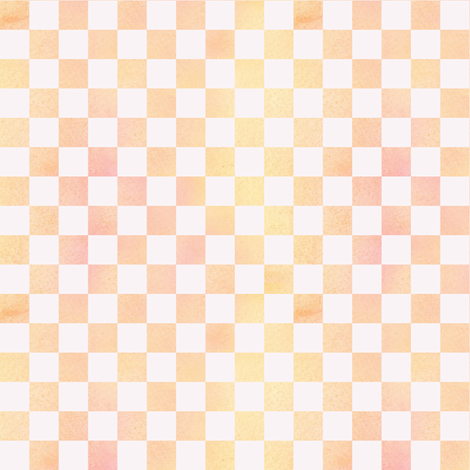 Orange Sherbet Check fabric by countrygarden on Spoonflower - custom fabric