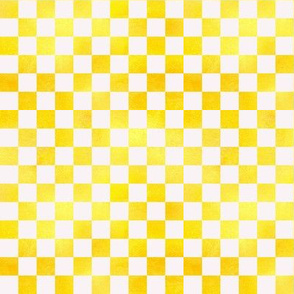 Sunshine Yellow Check