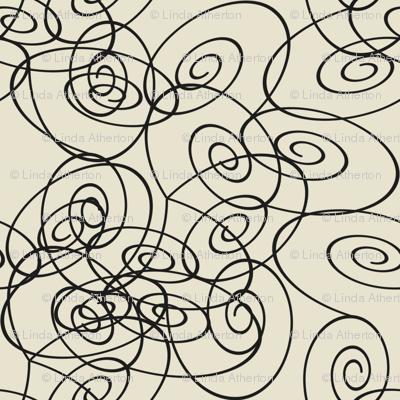 Spirals - black