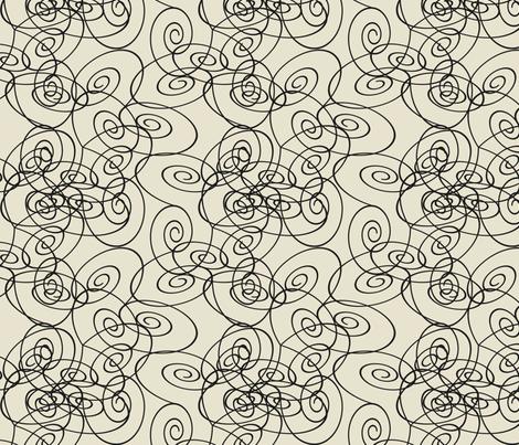 Spirals - black fabric by maplewooddesignstudio on Spoonflower - custom fabric