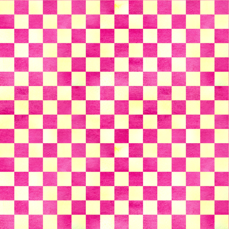 Raspberry Lemon Check fabric by countrygarden on Spoonflower - custom fabric