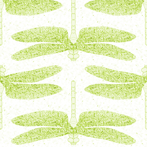 dragonfly lime fabric by keweenawchris on Spoonflower - custom fabric