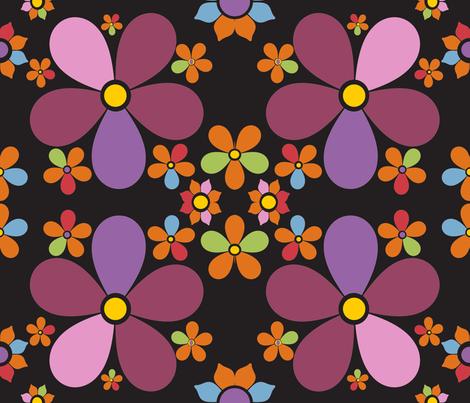 snorkblom black fabric by snork on Spoonflower - custom fabric
