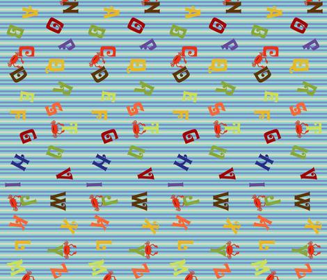 ABC Stripe fabric by cksstudio80 on Spoonflower - custom fabric