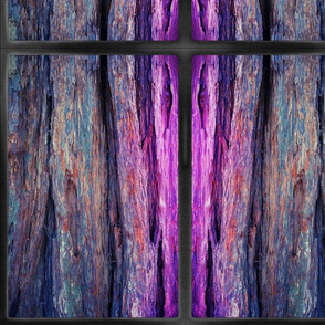 pink & blue bark with border