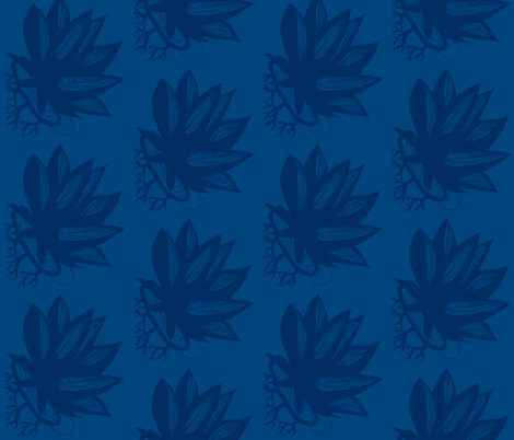 lily_pad-deep blue fabric by kcs on Spoonflower - custom fabric