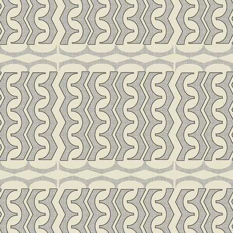 Black On Linen Glyph fabric by maplewooddesignstudio on Spoonflower - custom fabric