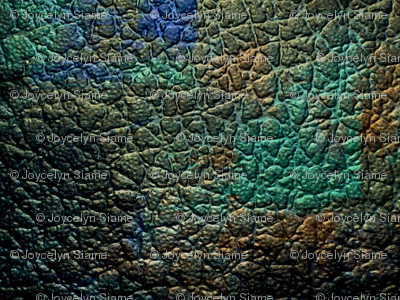Peacock leather