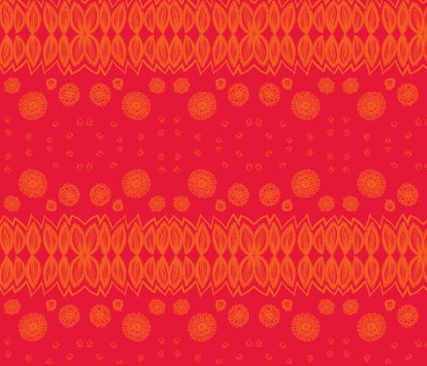 multi_pattern-orange & red fabric by kcs on Spoonflower - custom fabric
