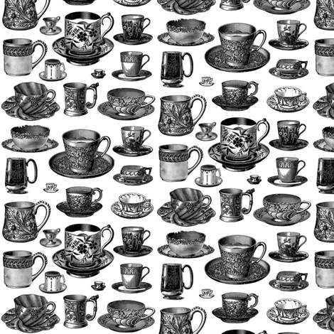 Teacups fabric by flyingfish on Spoonflower - custom fabric