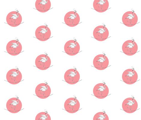 flamingo fabric by studiojelien on Spoonflower - custom fabric