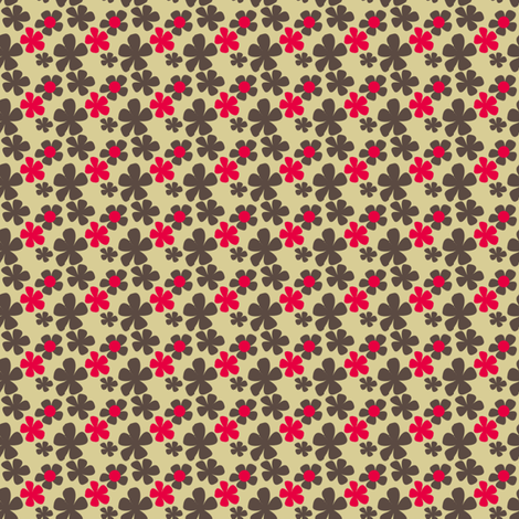 Demure retro floral fabric by meredithjean on Spoonflower - custom fabric
