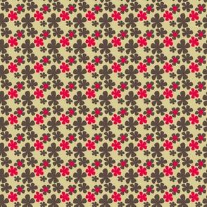 Demure retro floral