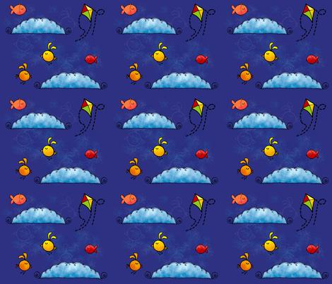 fish_and_birds fabric by padeshahoo on Spoonflower - custom fabric