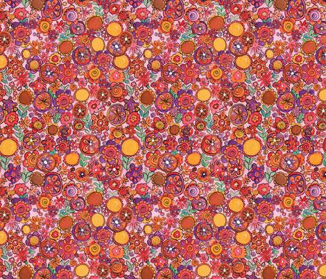 flowers fabric by jodysart on Spoonflower - custom fabric