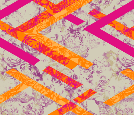 GEO_ROSE_HOT fabric by pattern_state on Spoonflower - custom fabric