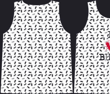 pattern - template x boys I love bugs tee shirts fabric by katarina on Spoonflower - custom fabric