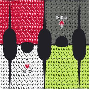 pattern - template x boys I love bugs tee shirts