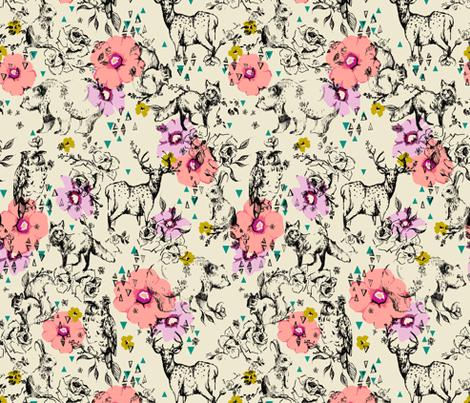 WOODLAND FOLK NORTH fabric by pattern_state on Spoonflower - custom fabric