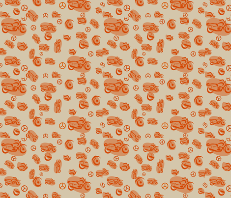motorcycle-ed fabric by kaynoh on Spoonflower - custom fabric
