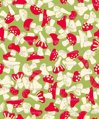 toadstools - green