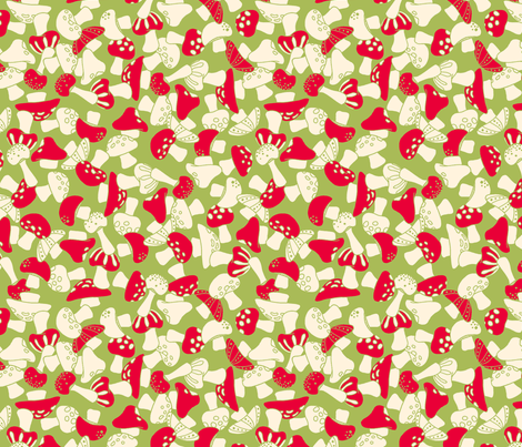 toadstools - green fabric by cheyanne_sammons on Spoonflower - custom fabric