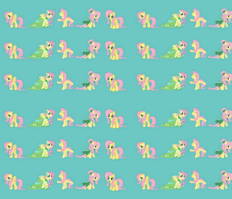 Fluttershy small fabric by mörky_muffin on Spoonflower - custom fabric