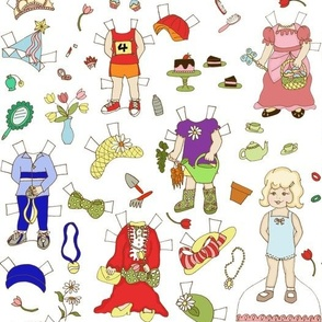 Miss Ruby Paper Dolls