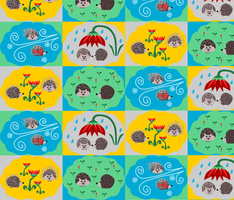 All weathered hedgehog! fabric by loopy_canadian on Spoonflower - custom fabric