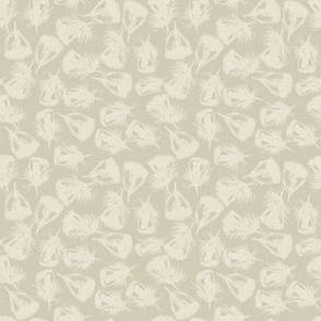 Feather Fab: Linen on Taupe
