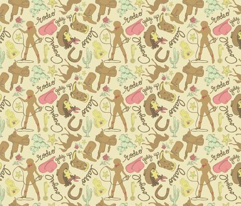 Cowgirl Fabric fabric by danab78 on Spoonflower - custom fabric