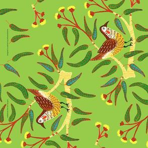 Wattle Bird Tea Towel