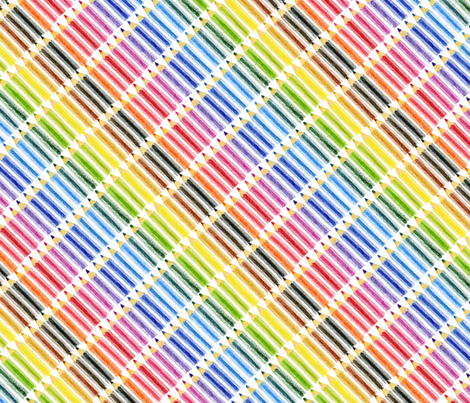 Coloured pencil, coloured pencils! fabric by shelleymade on Spoonflower - custom fabric