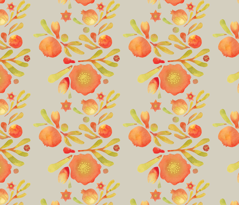 granada_floral_stone_field fabric by bee&lotus on Spoonflower - custom fabric