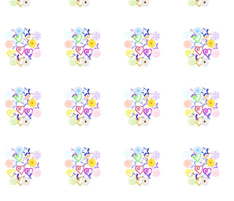 Coeurs1 fabric by manureva on Spoonflower - custom fabric
