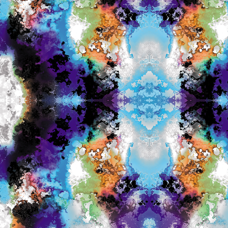 Fractal Clouds 5 fabric by animotaxis on Spoonflower - custom fabric