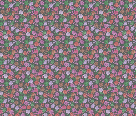 Roses (vintage) fabric by biancagreen on Spoonflower - custom fabric