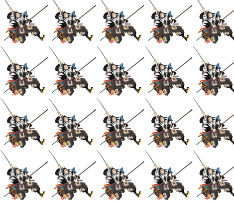 Samurai fabric by flyingfish on Spoonflower - custom fabric
