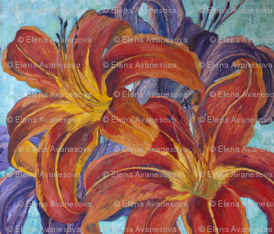 Rrorange_lilies_fabric_preview