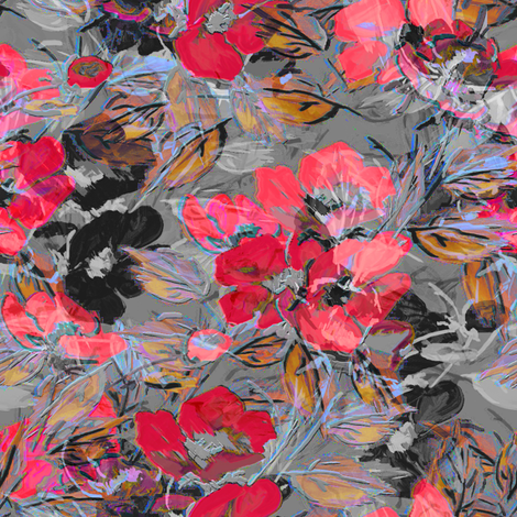 Rockabilly Rose Red fabric by joanmclemore on Spoonflower - custom fabric