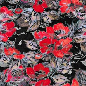 Rockabilly Rose Vermillion red