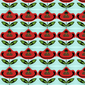 Red Flower Paper Dolls