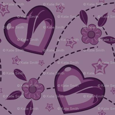 Lavender Purple Kei Hearts