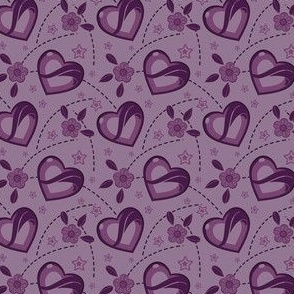 Lavender Purple Kei Hearts